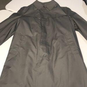 LONDON FOG Men's Gray Fur Lined Trench Coat 42L